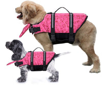 Paw Essentials Dog Life Jackets with Extra Padding (3 Color Options)