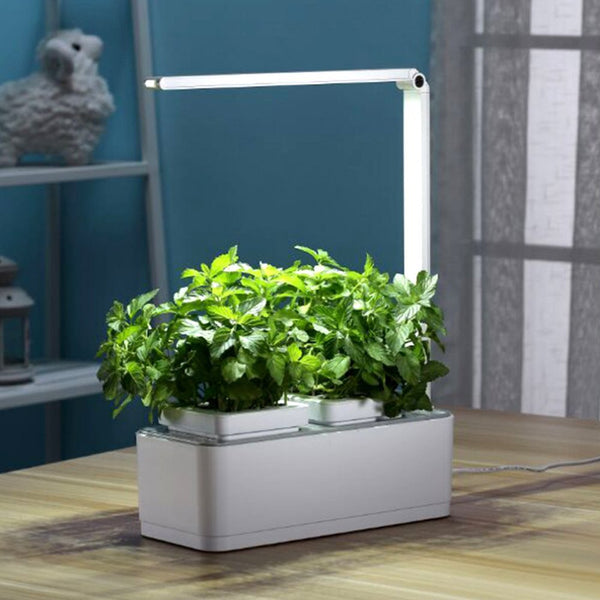 greenearth mini indoor smart hydroponics plant herb garden kit with wowitiscool. Black Bedroom Furniture Sets. Home Design Ideas