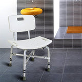 Active Authority Reinforced Adjustable Skidproof Aluminium Alloy Shower/Bath Chair Seat with Back