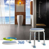 Active Authority Medical Bath Shower Stool Height Adjustable, Swivel 360 Aluminium Alloy