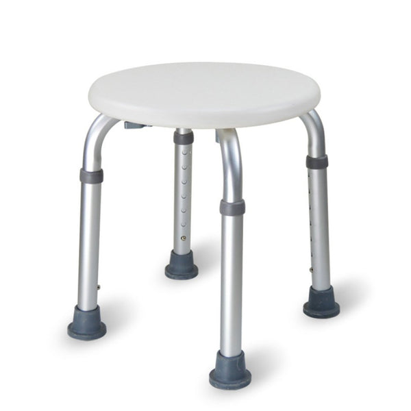 Active Authority Adjustable Skidproof Aluminium Alloy Shower Stool - Round Bathtub Chair
