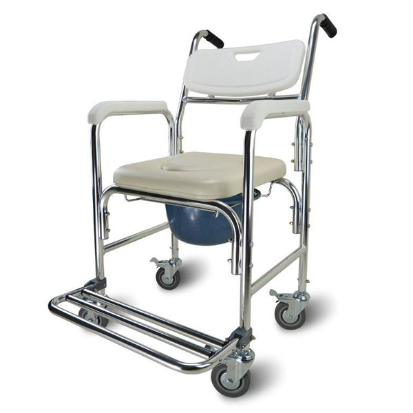 Active Authority Multi-Function Wheelchair Bedside Toilet & Shower Chair - up to 300lbs