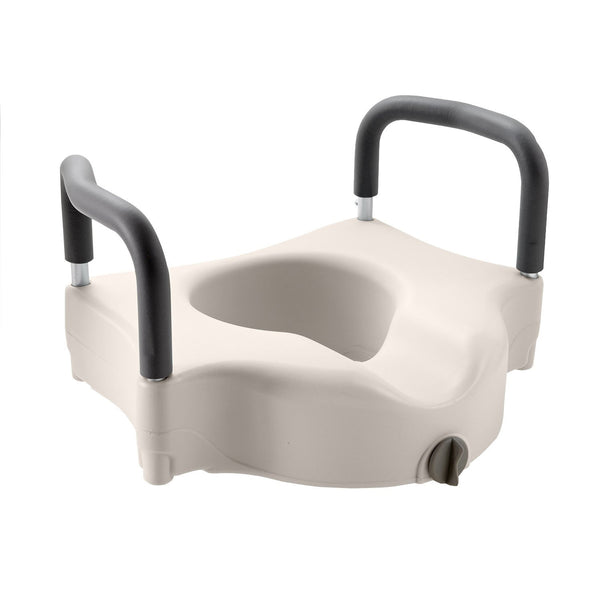 Active Authority Raised Toilet Seat - Portable Elevated Riser with Padded Handles