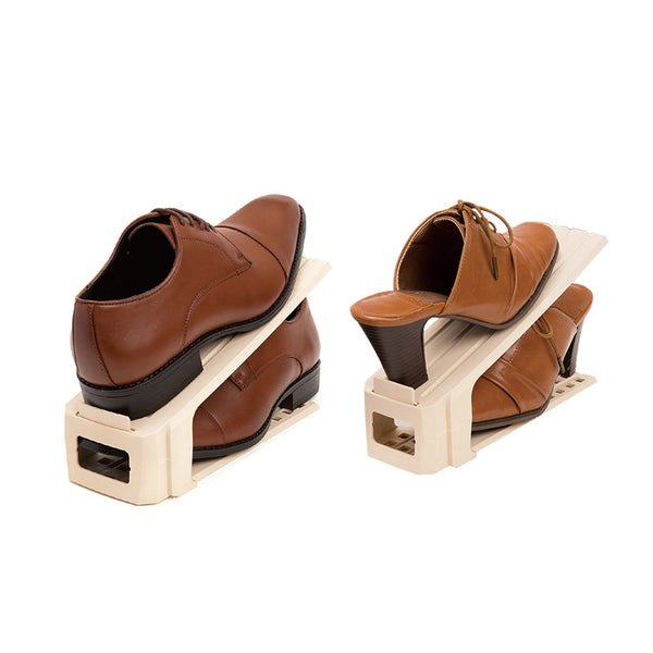Amanda Home Double Layers Shoe Slots Holder Organizer - Set of 2