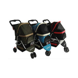 Paw Essentials Deluxe Folding 3-Wheel Pet Stroller  / Travel Carrier (3 Color Options)