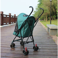 Paw Essentials Light 4-Wheel Folding Pet Stroller / Travel Carrier (3 Color Options)