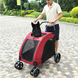Paw Essentials Expedition Pet Stroller for Cats and Dogs - up to 90lbs (3 Color Options)