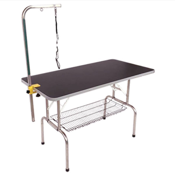 Paw Essentials Durable Heavy Duty Dog Pet Grooming Table with Arm and Noose