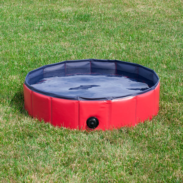 Paw Essentials Foldable PVC Dog Cat Swimming Pool Bathing Tub