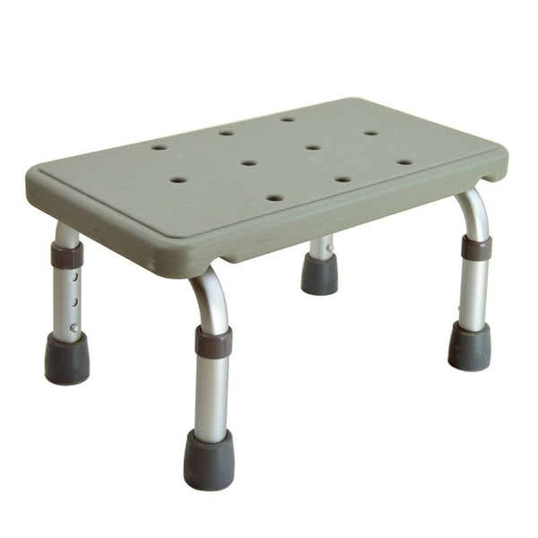 Active Authority Adjustable Skidproof Mini Aluminum Bath Stool or Step
