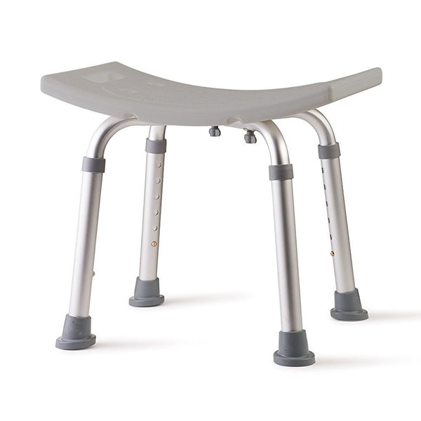 Active Authority Adjustable Curved Backless Medical Bath Bench Stool