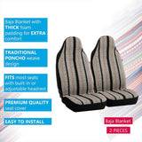 WOW AUTO Baja Blanket Bucket Seat Cover for Car, Truck, Van, SUV - Airbag Compatible (2PCS)