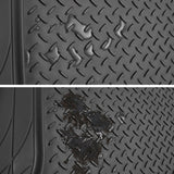 WOW AUTO Heavy Duty Rubber Trunk Cargo Liner Floor Mat, Trimmable to Fit for Car, SUV, Van, Trucks (Large, Black)