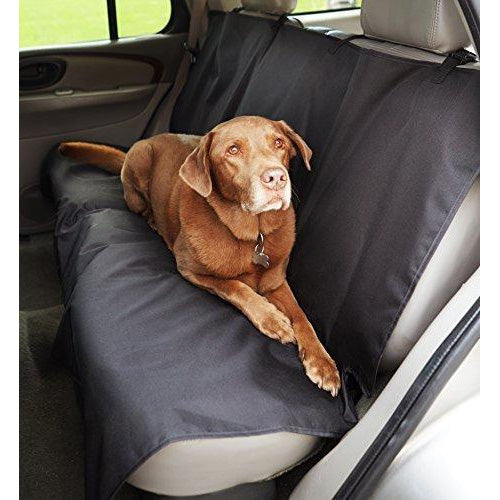 WOW AUTO Pet Seat Cover for Cars - Black, WaterProof, Hammock Convertible