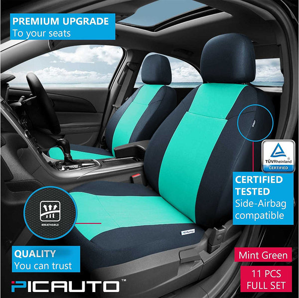 Surprising Wow Auto Car Seat Covers Set For Auto Truck Van Suv Polycloth Airbag Compatible Mint Green Unemploymentrelief Wooden Chair Designs For Living Room Unemploymentrelieforg