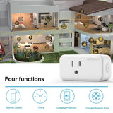 Dynamic Home Wifi Mini Smart Plug Socket w/Energy Monitoring - Control your Devices Anywhere