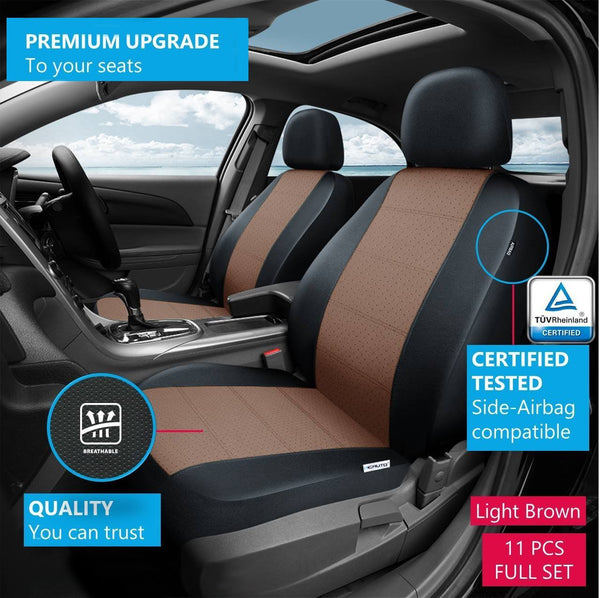WOW AUTO Car Seat Covers Set For Auto Truck Van SUV
