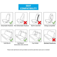 WowAuto Car Seat Covers for Auto, Truck, Van, SUV - PU Leather, Airbag Compatible, Universal Fit