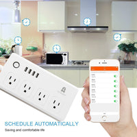DYNAMIC HOME WiFi Smart Power Strip Surge Protector Remote Control Outlet