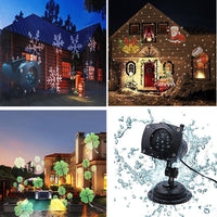 Celebration Outdoor LED Motion Projector with 12 Slides for Holiday Celebrations