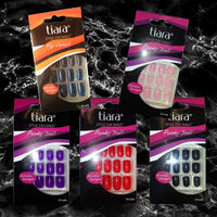 Tiara Style On Artificial Glue-On Punky Doll Sexy Nail Multi-Color Bundle 5-Pack of 24 Nails