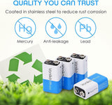 VONIKO Ultra Alkaline 9V Batteries , 7 Year Shelf Life, Leakproof