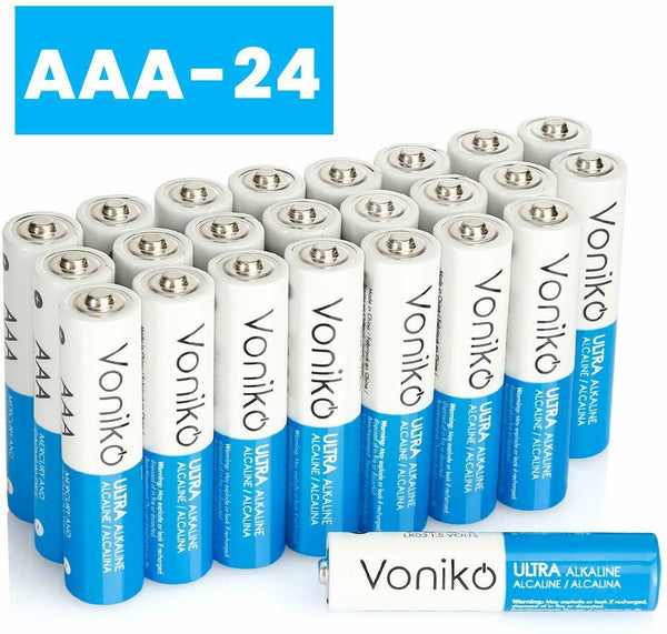 VONIKO Ultra Alkaline Batteries Size AAA, 10 Year Shelf, Leakproof
