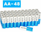 VONIKO Ultra Alkaline Batteries Size AA, 10 Year Shelf, Leakproof