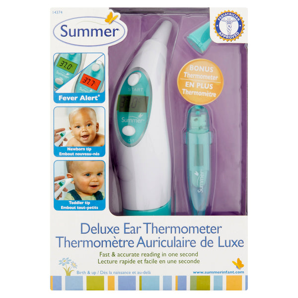 Summer Deluxe Digital Ear Thermometer & Oral Thermometer Set