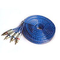 MWGears HTS-003 High Quality 2-Channel Car Stereo RCA Cables 4.5M (14.76 ft)