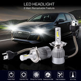 PLW 6C Auto LED Headlight System, H4 6000K IP68 Spec w/High Efficiency Heat Control