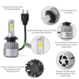 PLW S2 Auto Led Headlight lighting System, H7 6500K IP68 High Efficiency Heat Control