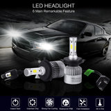 PLW S2 Auto Led Headlight lighting System, H4 6500K IP68 High Efficiency Heat Control