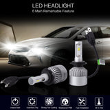 PLW S2 Auto Led Headlight Lighting System, H7 6500K IP68 Single Beam, High Efficiency Heat Control