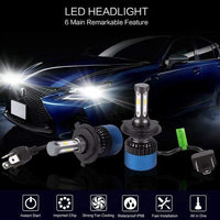 PLW S2 Auto Led Headlight lighting System, H4 2800K IP68 Spec w/High Efficiency Heat Control