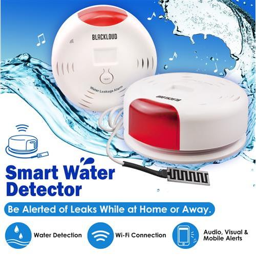 Bassonic Smart Wi-Fi Water Sensor, Flood and Leak Detector – Alarm and App Notifications, No Hub Required