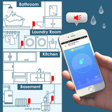 Blackloud Smart Wi-Fi Water Sensor and Leak Detector, App Alerts, Battery Powered
