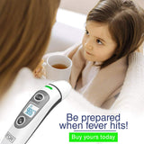 BFOR55 New Tech Infrared Temporal Digital Thermometer for Fever, (Fahrenheit and Celsius) Suitable for Baby Kids Adults and Infant Forehead Ear or Oral Temperature Instant.FDA/CE Approved.
