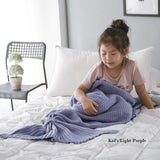 CozeeSoft Crochet Knitted Mermaid Tail Comfy Soft Blanket for Adults