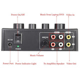 KILAYVOICE Karaoke Sound Mixer Dual Mic Inputs With Cable