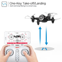 MWGEARS MX22W RC Drone FPV Quad Copter with HD Camera Nano WiFi Pocket Drone