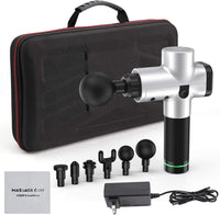 Massage Gun Percussion Massager Deep Tissue Muscle + 6 Heads & Carrying Case