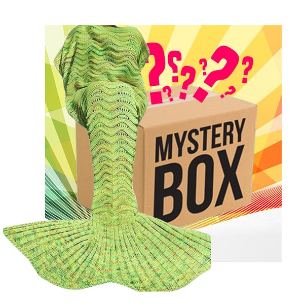 Mystery Box of Assorted Mermaid Tail Blankets - 10 Pack Assorted Colors and Styles! While supplies last.