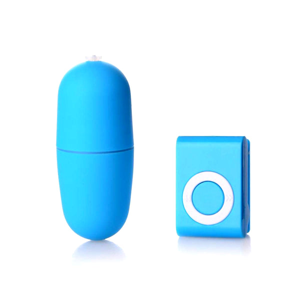 Wireless MP3 Style Remote Controlled Vibrating Egg - Blue