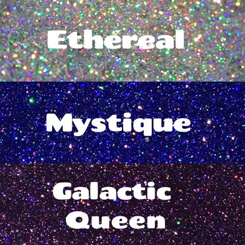 Holographic Pigment Trio - Ethereal, Mystique & Galactic Queen