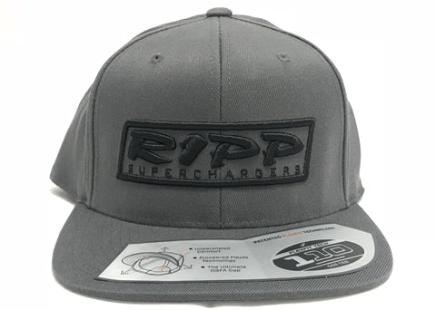 RIPP Snap Back Gray/  Black Lettering