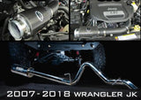 2007 - 2018 Jeep Wrangler JK Intake + Exhaust Package