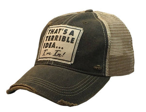 That's a Terrible Idea...I'm In! Vintage Distressed Cap