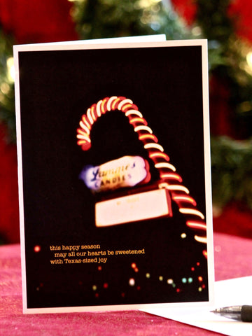 Candy Cane holiday card