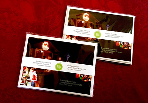 "Two sets of ""Haiku Austin"" Holiday cards - two sets of 4 designs (8 cards total)"